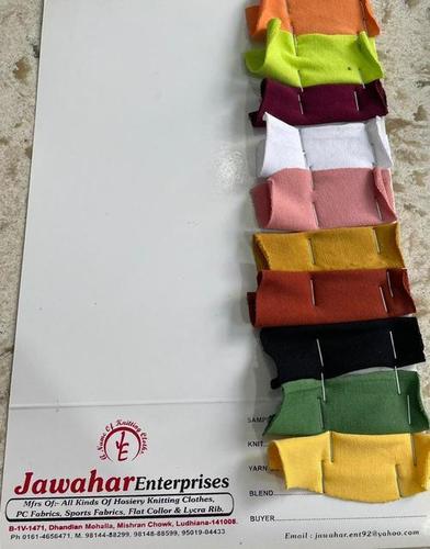 Cotton looper lycra ready shades