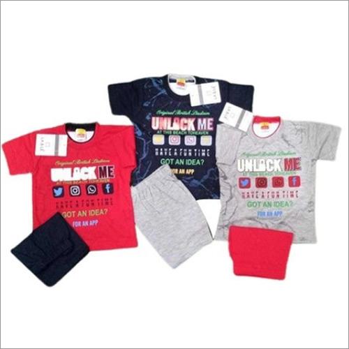 Kids Pure Cotton Half Sleeve T-Shirt Set