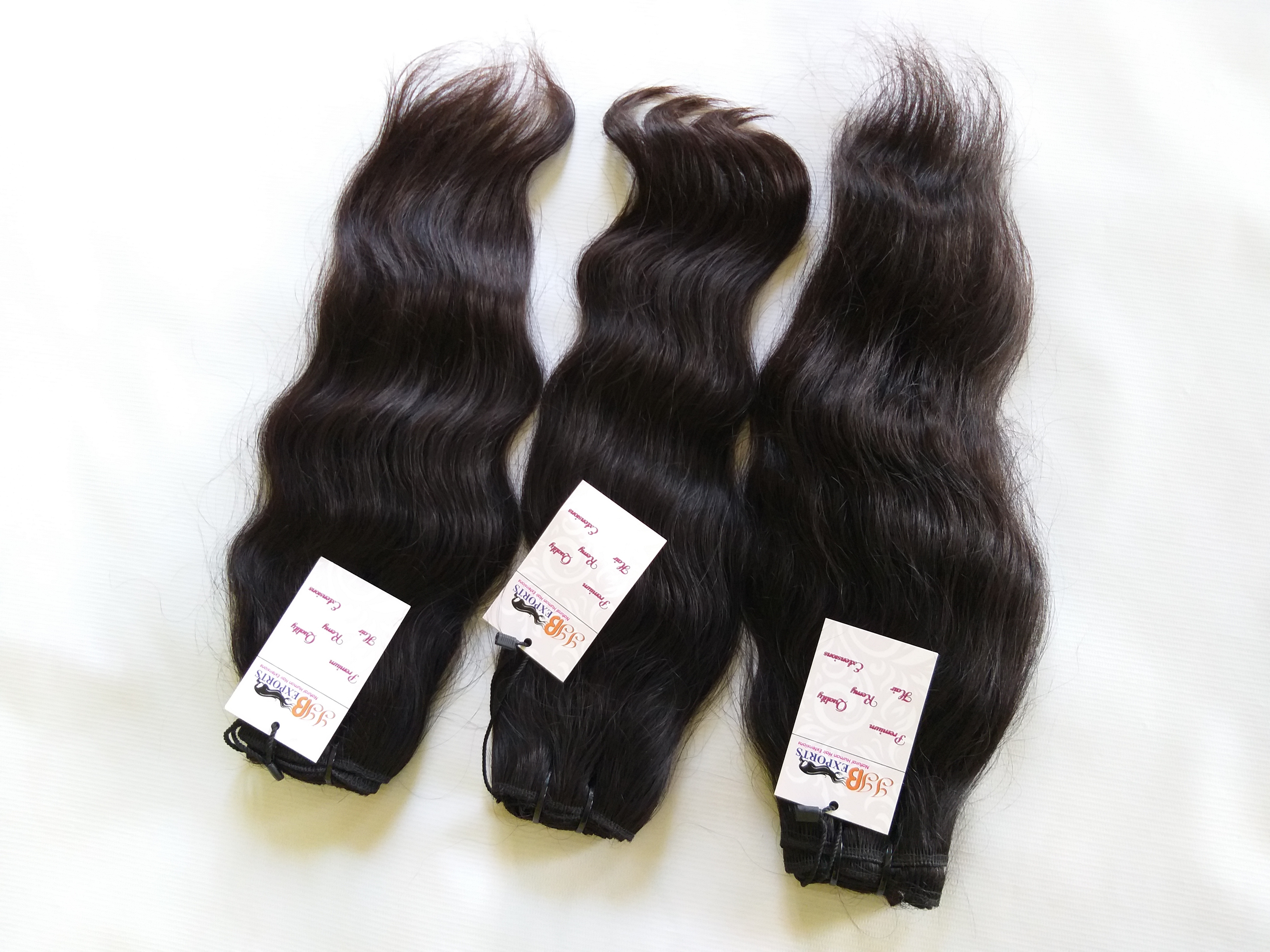 Natural Raw Unprocessed Indian Virgin Wavy Remy Human Hair Bundle