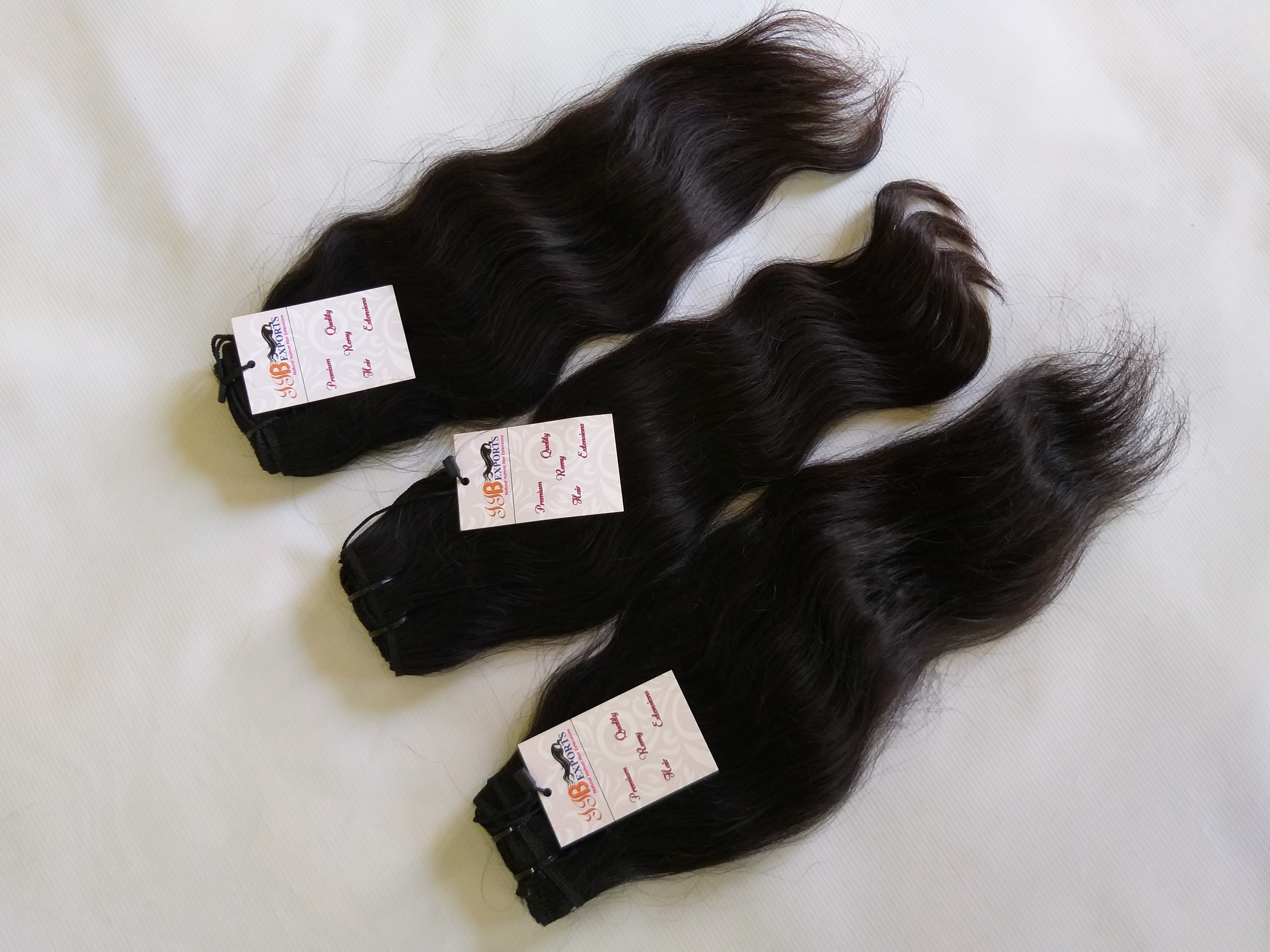 Soft & Silky Natural Raw Unprocessed Wavy Human Hair Extensions