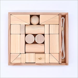 Wooden Handmade Toy Blocks Intellectual Training Education Made Of Nikko Cypress Made In Japan