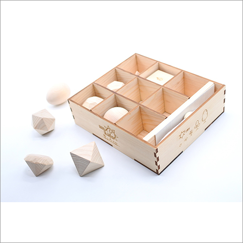 Wooden Handmade Toy Blocks Made of NIKKO Cypress Intellectual Training Education Made in Japan