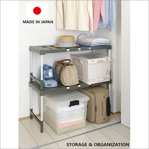 Functional Extensible Closet Storage Organization Organizer (2 PCS Set) Made in Japan Recycle resin