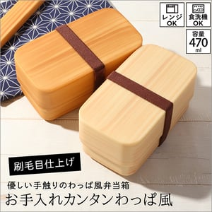 Japan Quality PET 2 Layers Bento Lunch Box Food Container Rectangular Shape Made in Japan