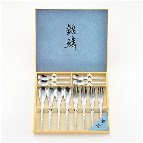 Stainless Steel Flatware 12 pcs set Coffee Spoons, Dessert Spoons, Dessert Folks Made in Japan
