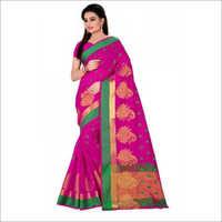 Fashionable Cotton SIlk Sarees
