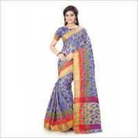 Flower Print Cotton Silk Sarees