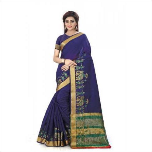Hathi Print Cotton Silk Sarees