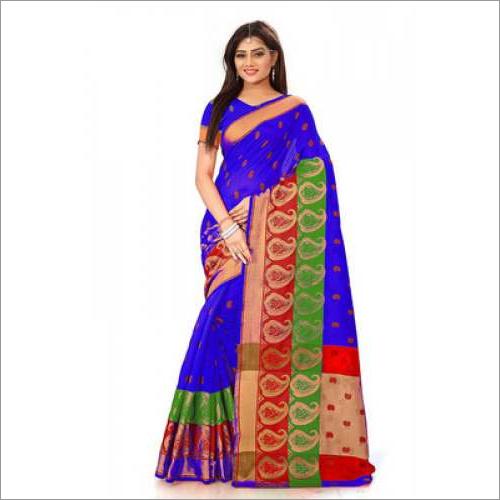 Double Keri Cotton Silk Saree