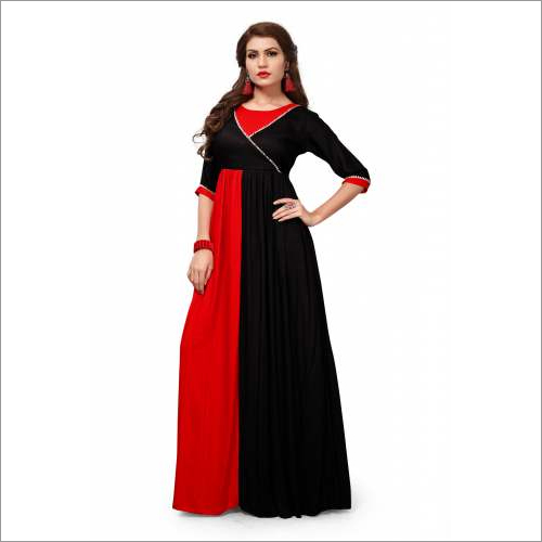 Taffeta Red Long Gown