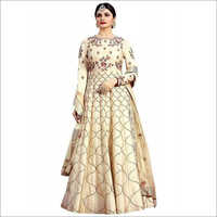 Embroidery With Multi Work Gown