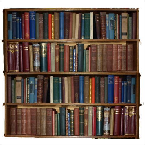 Wooden Library Bookshelf