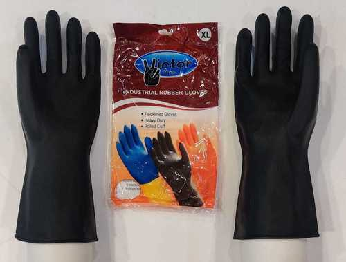 Victor Industrial Black  Hand Gloves