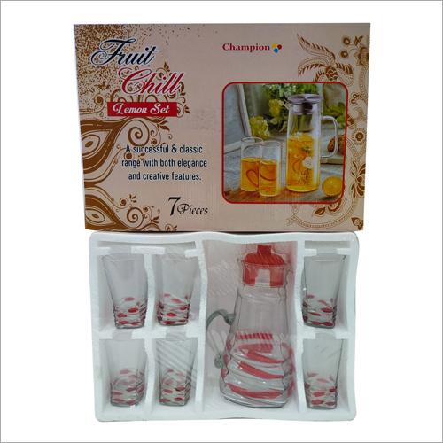 7 Pcs Fruit Juice Glass Set