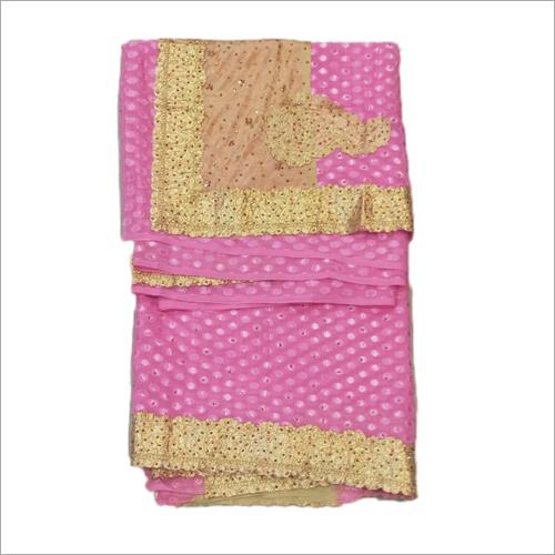 Ladies Heavy Embroidered Border Saree