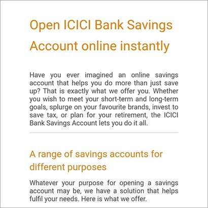 Icici Bank Account Opening Service