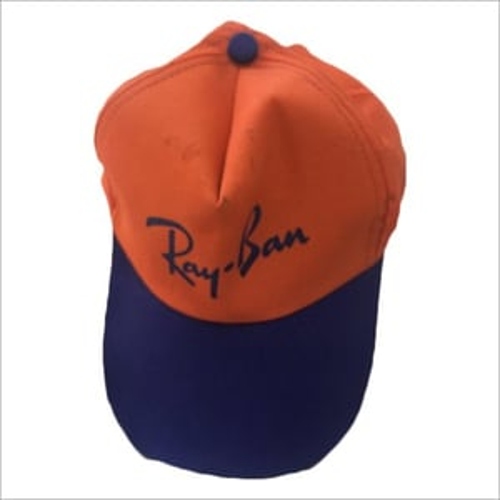 Mens Orange Blue Promotional Cap