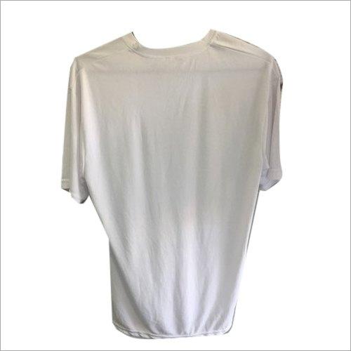 Mens White Plain T Shirt