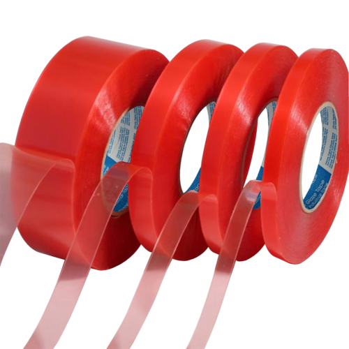 140 Mic Red Double Sided Polyester Tape