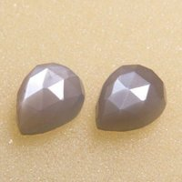 5x8mm Gray Moonstone Rose Cut Pear Loose Gemstones
