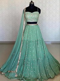 Green butty Choli