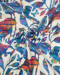 Twill Silk Digital Print Fabric