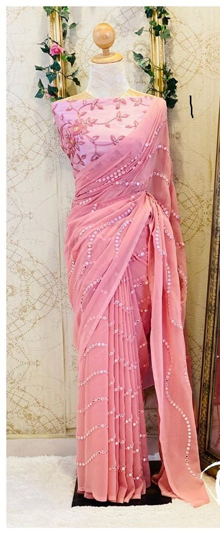 Pink Saree