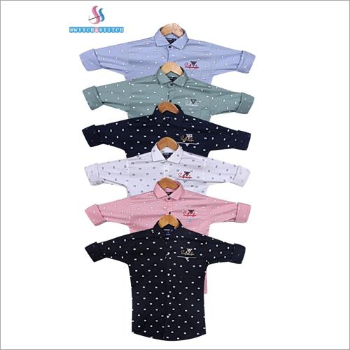 Kids Cotton Dot Printed Shirts