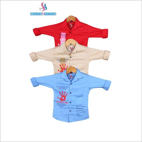 Kids Regular Fit Party Wear Shirts
