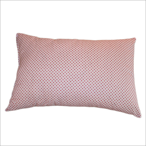 Dotted Fabric Washable Yarn Solid Pillow