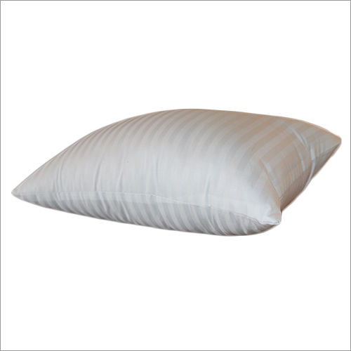 White Fiber Quilted Pillow