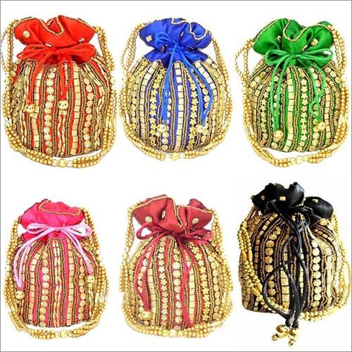 Ladies Beaded Potli Bag