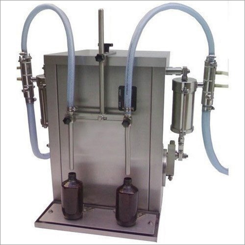 Semi Automatic 2 Head Bottle Filling Machine