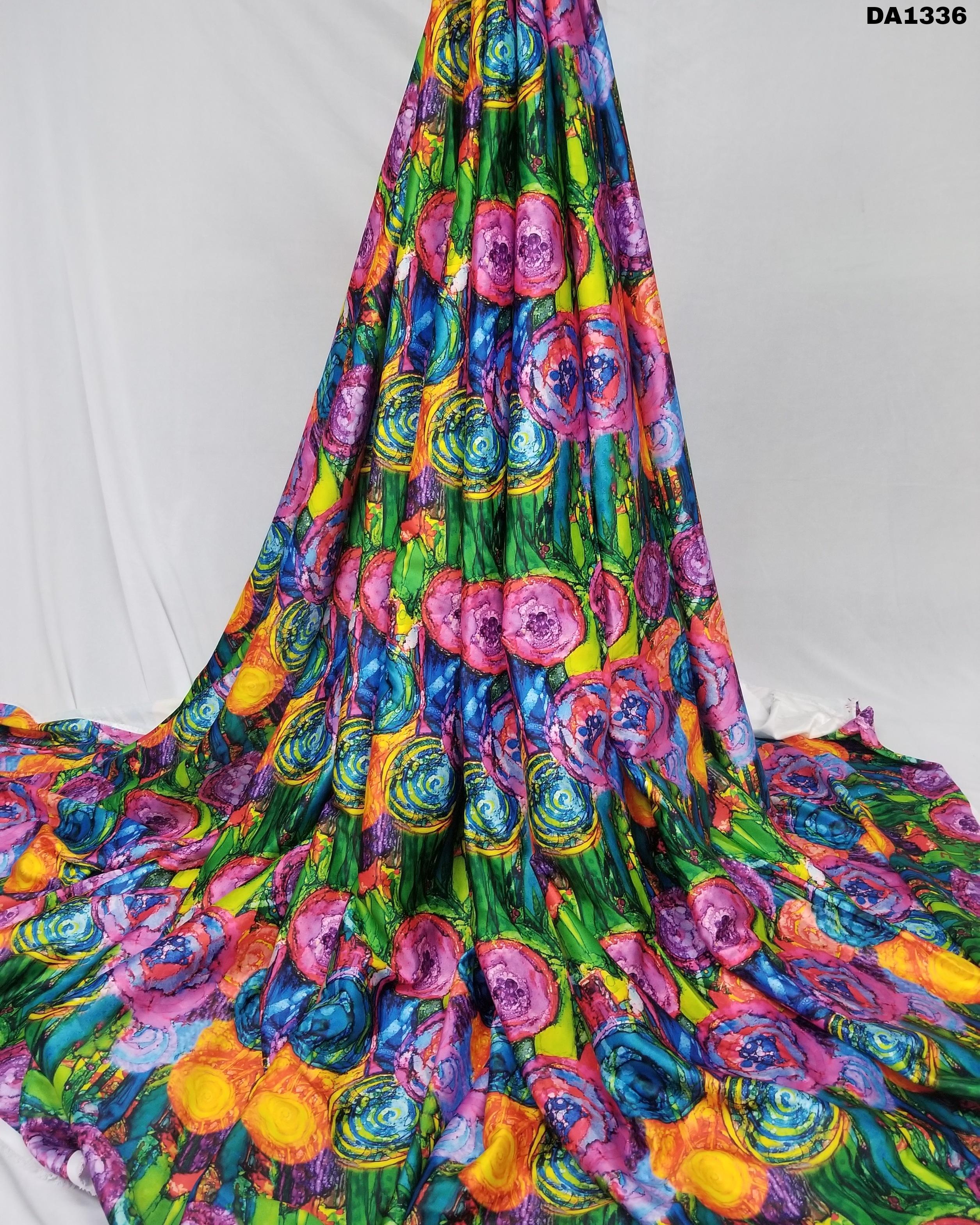 Baby Sartin Silk Digital Print Fabric