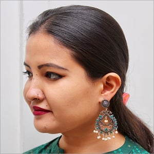 Roohi Silver-Plated Brass And Pearl Earrings