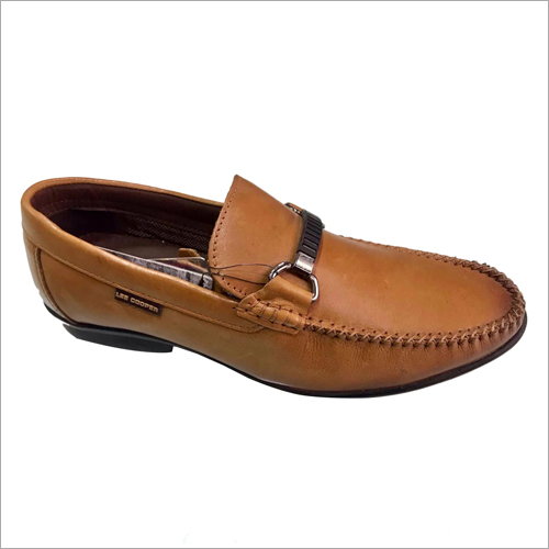 Tan Leather Lee Cooper Loafer Shoes