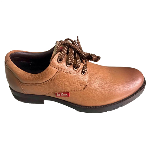 Tan Lee Cooper Leather Boot Shoes