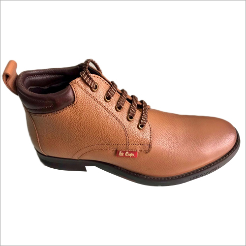 High Ankle Tan Leather Shoes