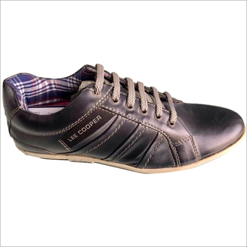 Grey Lee Cooper Leather Shoes