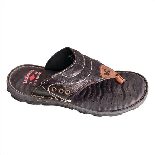 Black Lee Cooper Leather Slipper