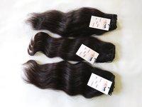 Indian Single Drawn Machine Wefted Tangle Free Wavy Human Virgin Hair Bundle