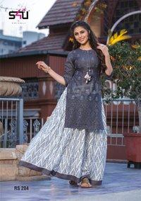 kurti with skirts