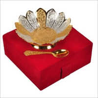Dual Flower Gold & Silver Plated Bowls