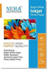 Neha 4X6 GLOSSY 180GSM PLAIN 4X6 180 gsm Photo Paper