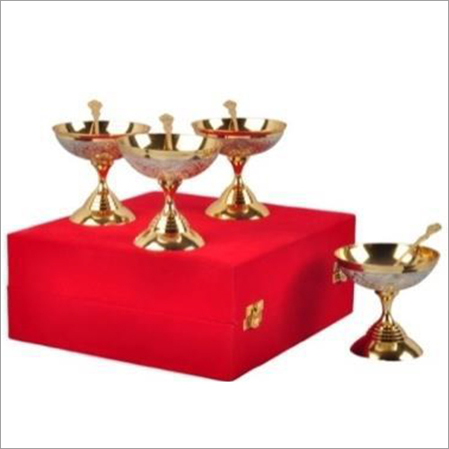 Gold & Silver Plated Ice Cream Bowl Sets
