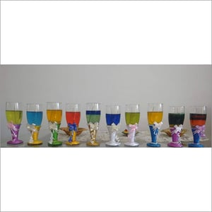 Wine Glass Scented Gel Candles