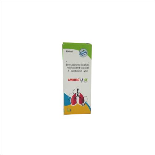 100ml Levosalbutamol Sulphate Ambroxol Hydrochloride and Guaiphenesin Syrup