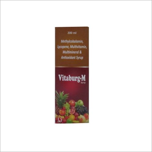 200 ml Methylcobalamin Lycopene Multivitamin Multimineral and Antioxidant Syrup