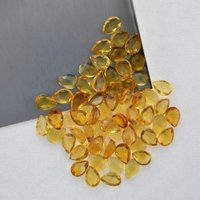 4x6mm Citrine Rose Cut Pear Loose Gemstones