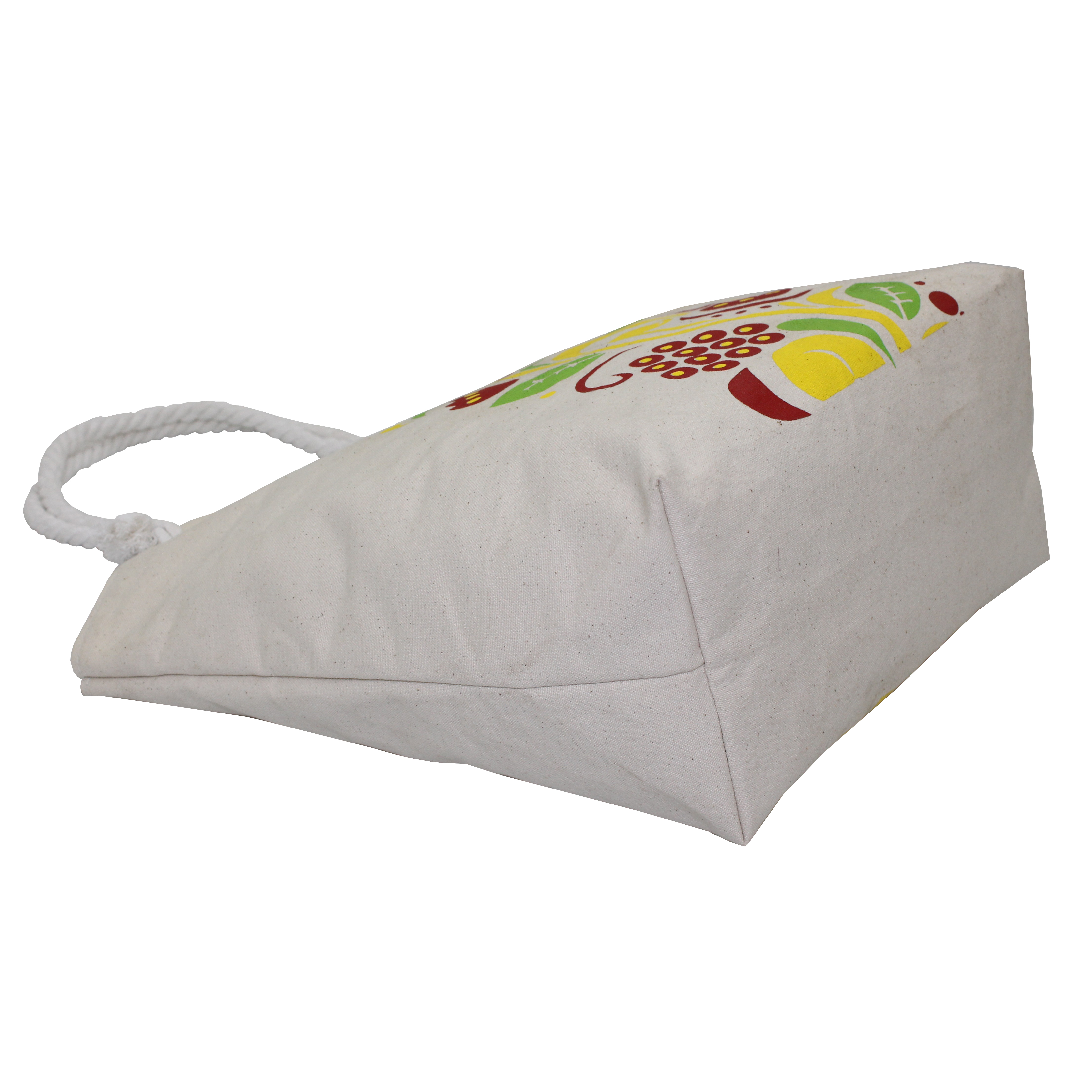 12 Oz Natural Canvas Beach Bag With Inside Lining